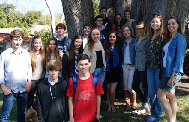 Laguna Blanca School's high school journalism class for 2012-13.